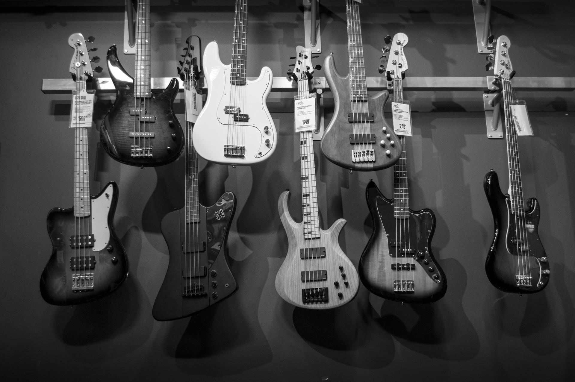 variedad de guitarras